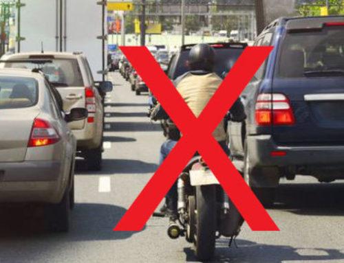 Circulation entre les files de voitures : c'est fini !